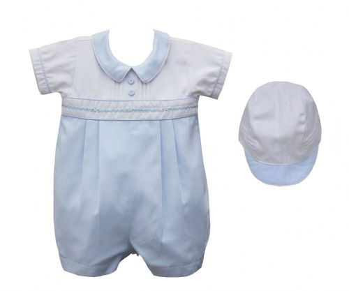 Pretty Originals Boys Romper With Hat